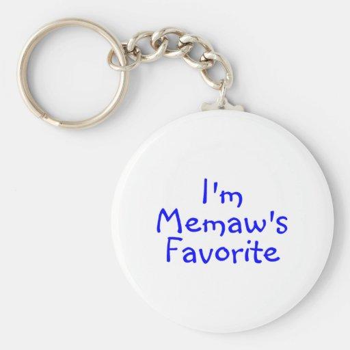Im azul preferido de Memaws Llavero Personalizado