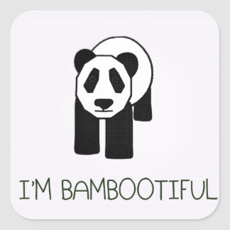 I'm Bambootiful Square Stickers