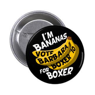 I'm Bananas for Boxer Button