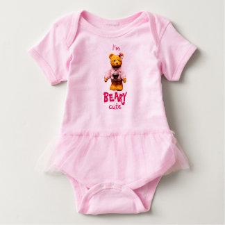 I'm beary cute tutu baby bodysuit