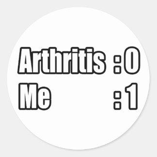 I'm Beating Arthritis Round Sticker