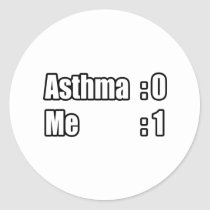 I'm Beating Asthma Classic Round Sticker