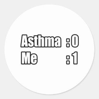 I'm Beating Asthma Classic Round Sticker
