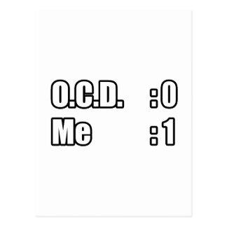 I'm Beating OCD (Scoreboard) Postcard
