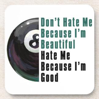 Im Beautiful Im Good 8 Ball Drink Coaster