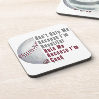Im Beautiful Im Good Baseball Beverage Coaster