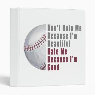 Im Beautiful Im Good Baseball 3 Ring Binder