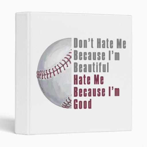 Im Beautiful Im Good Baseball Binder