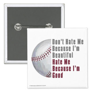 Im Beautiful Im Good Baseball Button