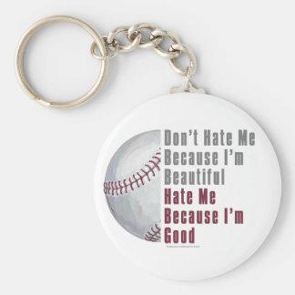 Im Beautiful Im Good Baseball Keychain