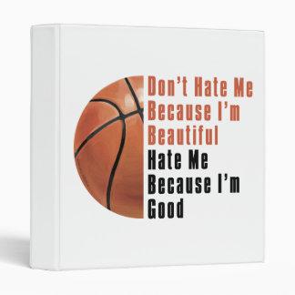 Im Beautiful Im Good Basketball 3 Ring Binders