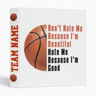 Im Beautiful Im Good Basketball Binders