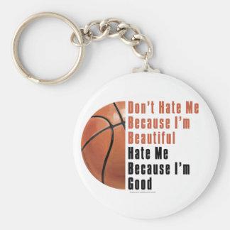 Im Beautiful Im Good Basketball Keychains