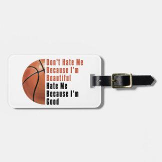 Im Beautiful Im Good Basketball Travel Bag Tag