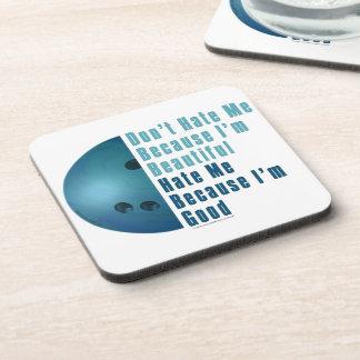 Im Beautiful Im Good  Bowling Blue Drink Coaster