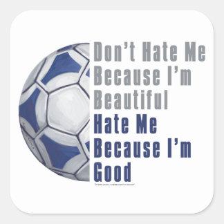 Im Beautiful Im Good Futbal Square Sticker