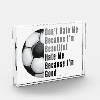 Im Beautiful Im Good Soccer Ball Acrylic Award