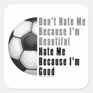 Im Beautiful Im Good Soccer Ball Square Sticker