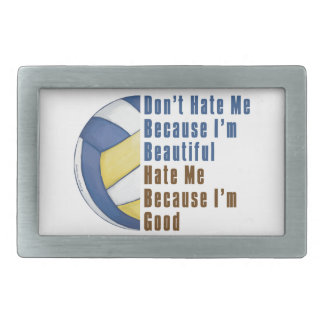Im Beautiful Im Good Volleyball Belt Buckle