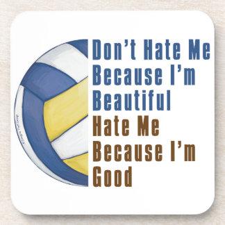 Im Beautiful Im Good Volleyball Coaster