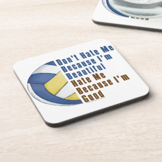 Im Beautiful Im Good Volleyball Drink Coaster