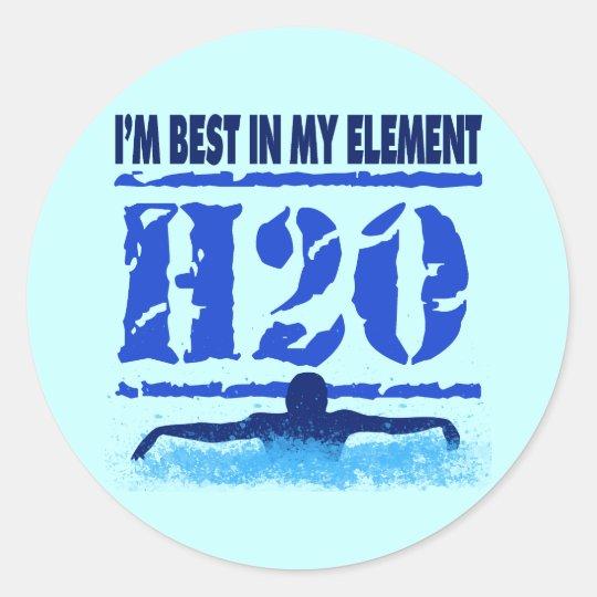 I'M BEST IN MY ELEMENT - H2O CLASSIC ROUND STICKER