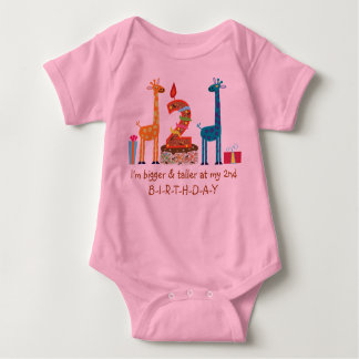 I'm bigger & taller at my 2nd BIRTHDAY Baby Bodysuit
