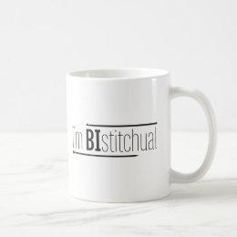 I'm Bistitchual Mug by Spun Fibre Arts