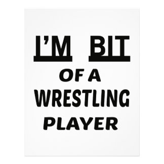I'm Bit of a Wrestling player Letterhead