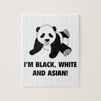 I'm Black, White And Asian! Puzzle
