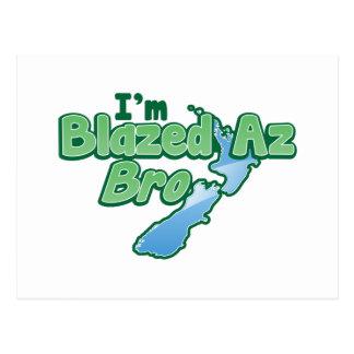 I'm BLAZED as Bro with New Zealand MAP Postcard
