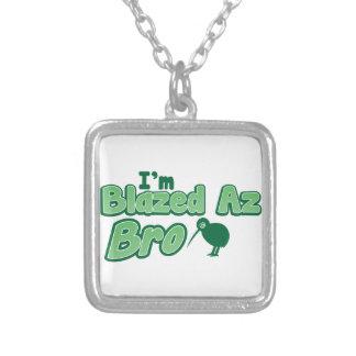I'm Blazed az BRO Silver Plated Necklace