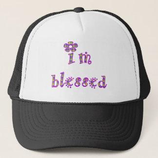 I'm Blessed Plaid Design Trucker Hat