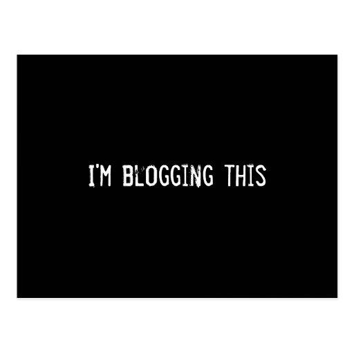 I'm blogging this post cards