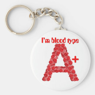 I'm blood type A positive Basic Round Button Keychain