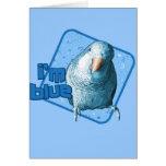 I'm Blue Quaker Parakeet Card