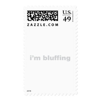 I'm Bluffing - Gambling Gaming Funny Humour Postage