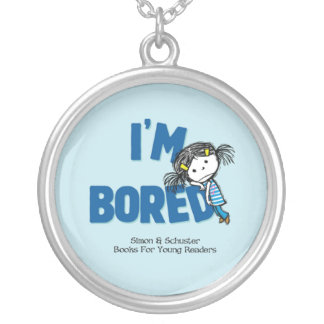 I'M BORED necklace (round)