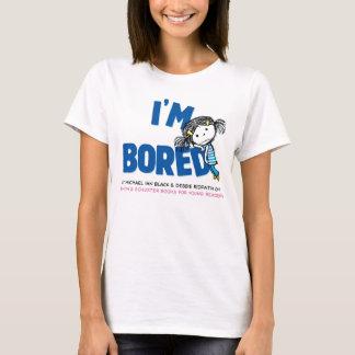 I'M BORED Women's Ringer T-shirt, Ballerina Back T-Shirt