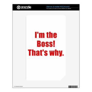 Im Boss que es por qué Calcomanía Para El NOOK Color