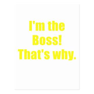 Im Boss que es por qué Tarjeta Postal