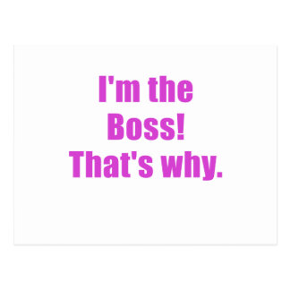 Im Boss que es por qué Postal