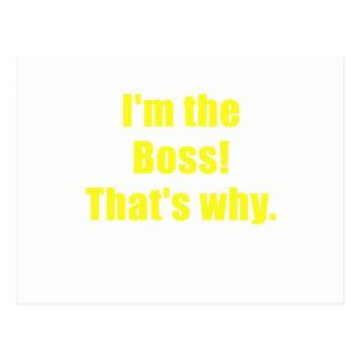 Im Boss que es por qué Postales