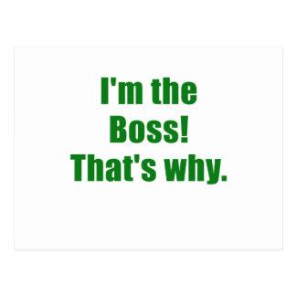 Im Boss que es por qué Tarjetas Postales