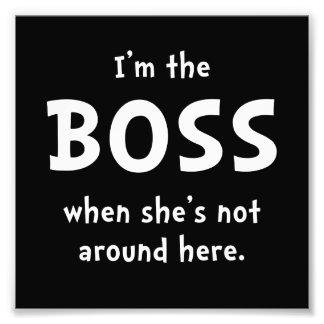 Im Boss Shes no alrededor Cojinete