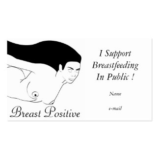 I'm Breast Positive Double-Sided Standard Business Cards (Pack Of 100)