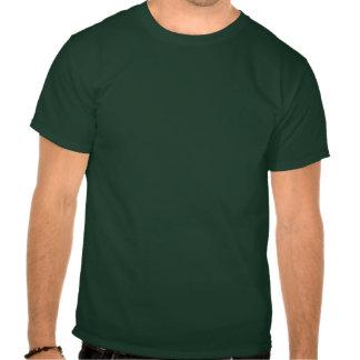 I'm broke (moderate cyan writing on deep forest) t-shirt