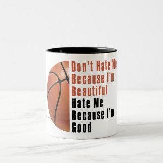 Im buen baloncesto Im hermoso Taza De Café De Dos Colores