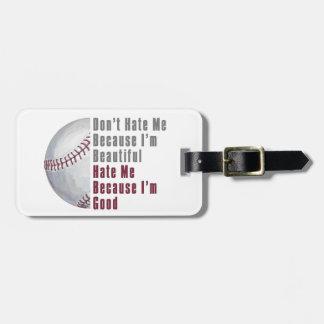 Im buen béisbol Im hermoso Etiqueta Para Maleta