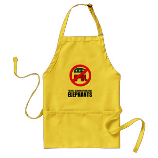 I'm busy cleaning up after the elephants adult apron